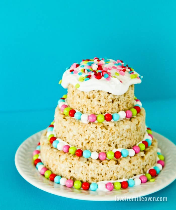 No Bake Rice Krispies Wedding Cake Recipe: Rice Crispy Cake Decorating