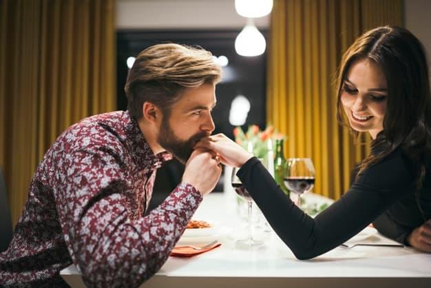 man flirting with woman