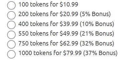 chaturbate token rate
