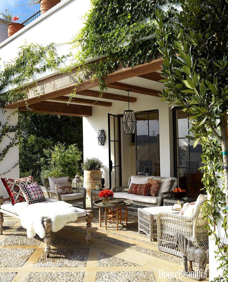 outdoor space into a luxury patio