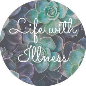 """A backgound of succulents with the text """"life with illness"""" for Love Heal Grow Counseling. Contact an online therapist in California to learn about online therapy. We can offer support with therapy for teens in Sacramento, CA, online affair recovery, and other services."""