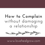 How to Complain in Relationships