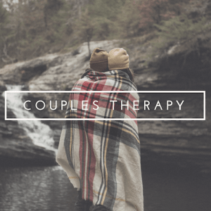 """A couple overlooking a river with the text """"couples therapy."""" We offer online couples therapy and marriage counseling in california. Contact a Sacramento therapist for support!"""