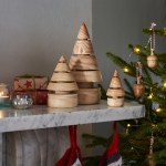 Wooden Christmas Trees Eco Vegan Friendly Love Heartwood