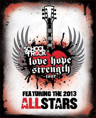 School of Rock Teams Up With Love Hope Strength for 21-City Benefit Tour