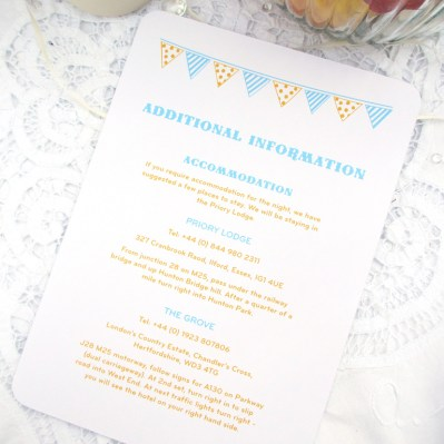 Wedding Additional Information Summertime by Love Invited