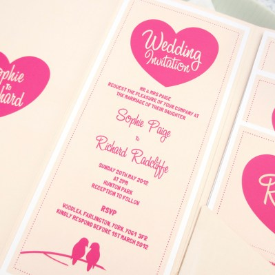 Wedding Invitation lovebirds by Love Invited