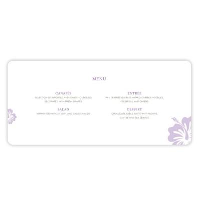 Wedding Menu destination by Love Invited