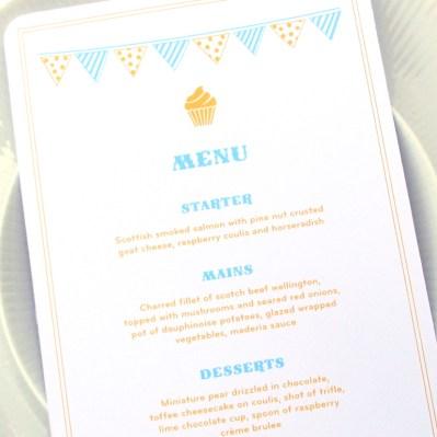 Wedding Invitation Menu Summertime by Love Invited