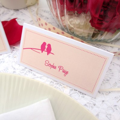 Wedding Placecard lovebirds by Love Invited