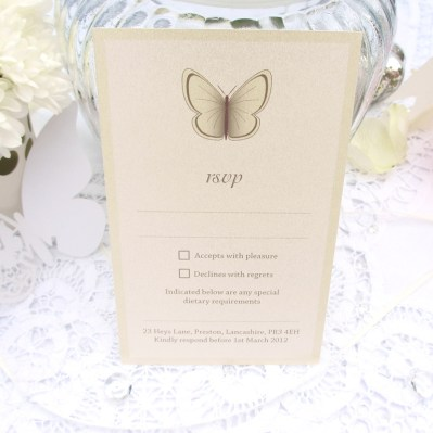Wedding RSVP beautiful butterfly by Love Invited