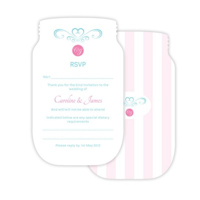 Wedding RSVP sweetheart by Love Invited