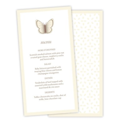 Wedding Table Menu Beautiful Butterfly by Love Invited