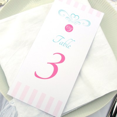 Wedding Table Number Sweetheart by Love Invited