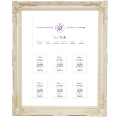 Wedding table plan destination