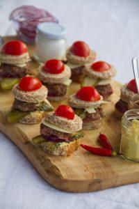 Miniburger für Osterbrunch
