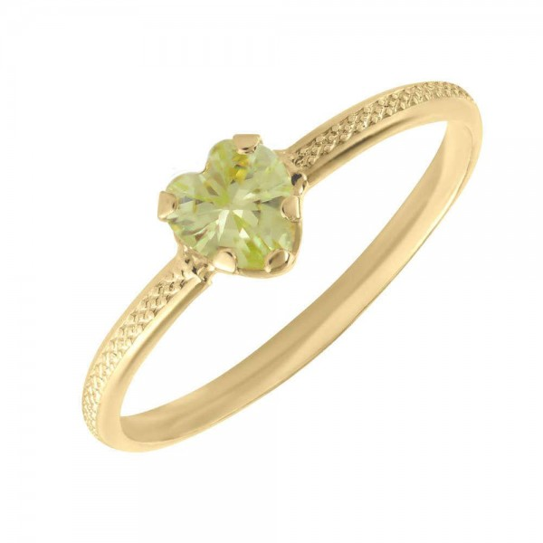 10k yellow gold diamond green peridot birthstone band ring size 6.00 stone august oval fine jewelry for women gifts for her 4.5 out of 5 stars 3 $94.45 $ 94. 10k Yellow Gold August Birthstone Ring For Toddlers And Children Size 3 1 2