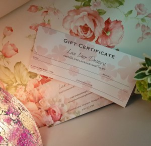 Love Lace Bridal Gift Vouchers