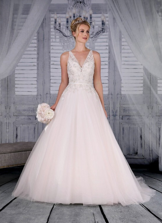 Signature Bridal Tiana wedding dress in blush