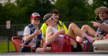 Fitz Dwyer, Sam Collier, Tripp Willis and Ethan Toms on a redneck themed truckbed