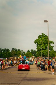 The parade winds down at Loveland High School