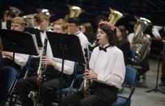 Jacob Aldrich plays clarinet
