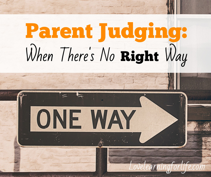 Parent Judging: When There's No Right Way