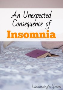 An unexpected consequences of insomnia
