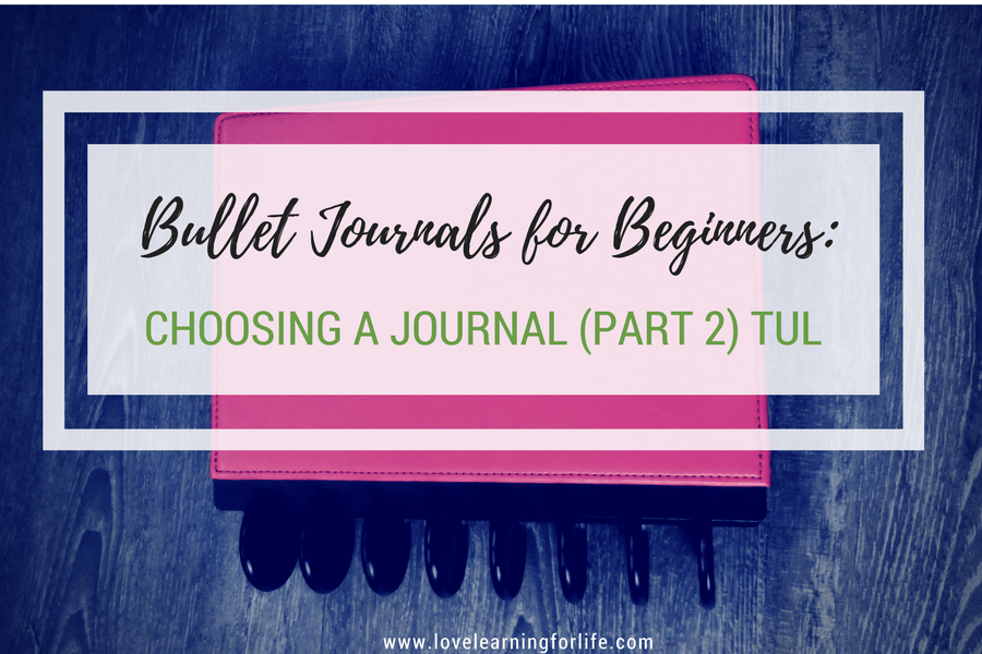 Bullet Journals for Beginners: Choosing a Journal (Part 2) Tul