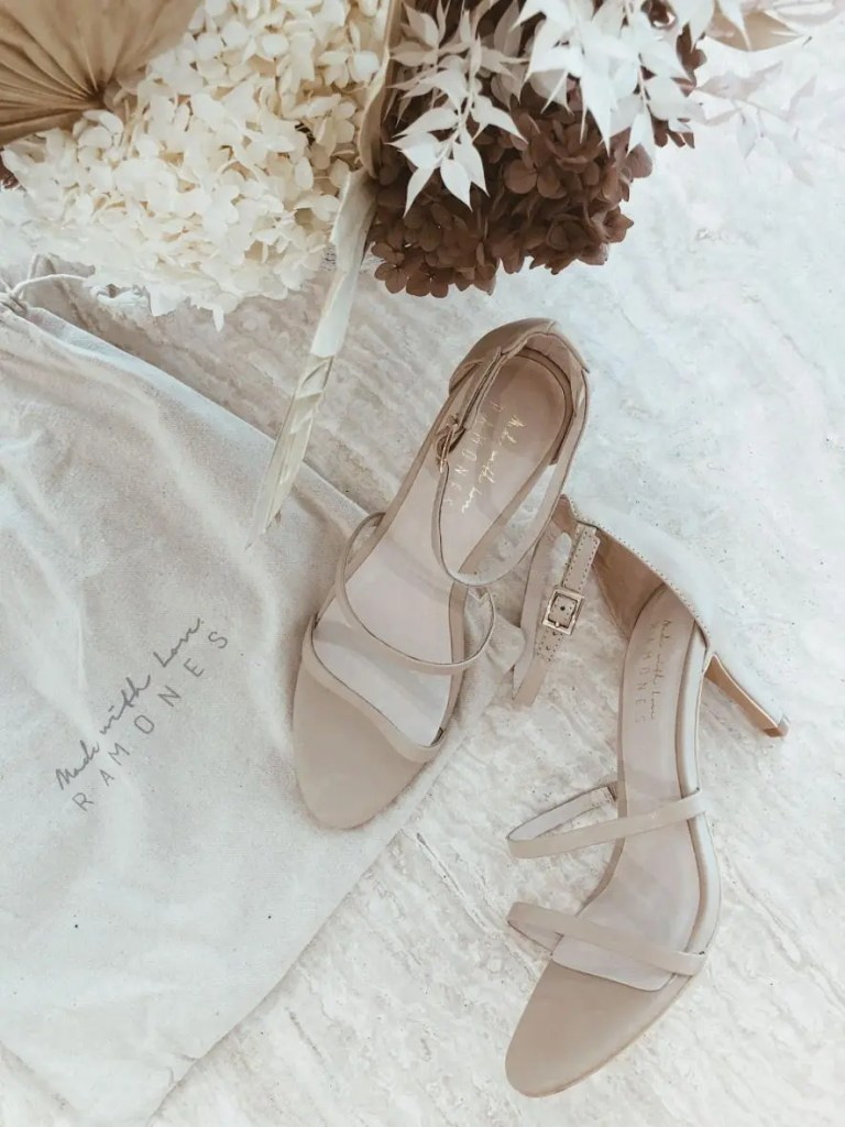 nude leather bridal shoes by Made with Love bridal
