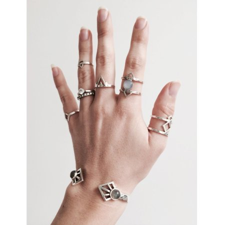 Aloha Gaia bracelet and rings by Lovelings