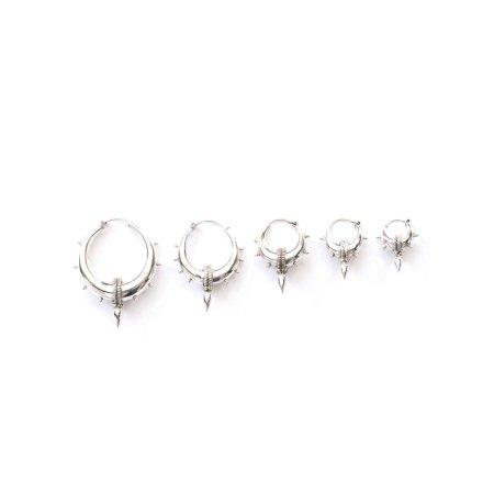 Wildlings Silver Spike Earrings
