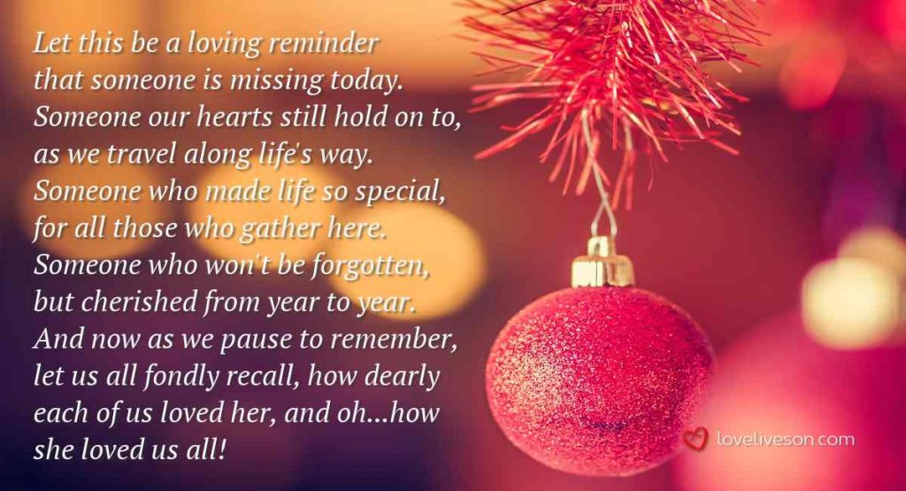 Christmas Missing You Poems