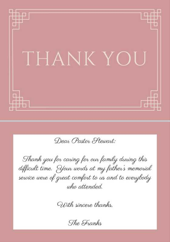 Sincere Thank You Letters For Sympathy   Docoments Ojazlink