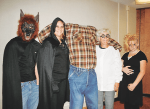 Ready for the Byron Haunted High School tours are (l-r) Brendan 'Wolfman' Roman, Victoria Dickson, Evelyn Carter and Ashley Glumac.