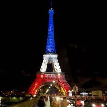 Eiffel Tower Tricolour