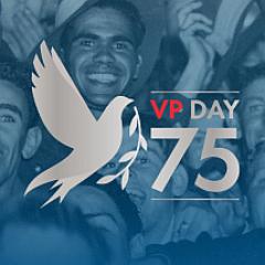 vp day 75 logo