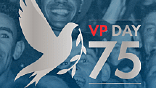 vp day 75 logo