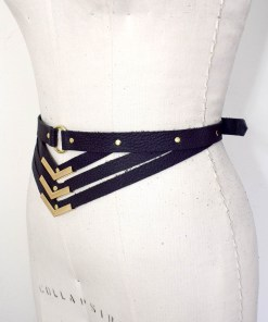 leather harness belt, love lorn lingerie