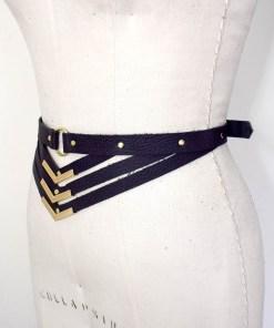 leather harness belt, love lorn lingerie