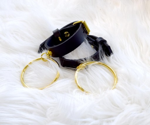 slim leather cuffs, love lorn lingerie