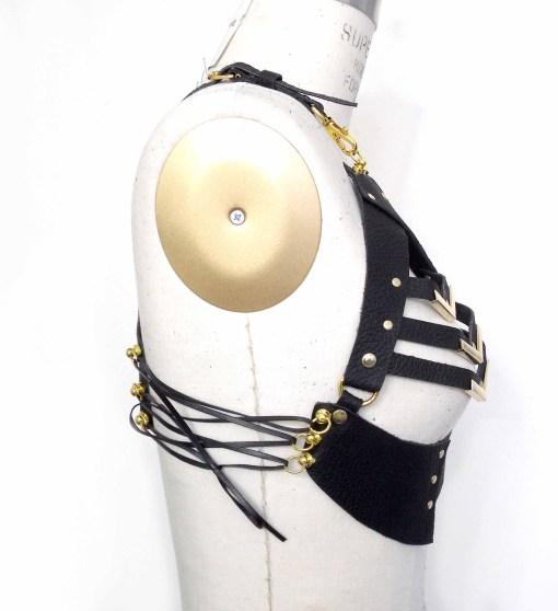 open cup bra, leather bralette, love lorn lingerie