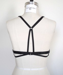 Stretchy Elastic harness bra, love lorn lingerie