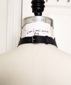 love lorn lingerie, black leather oxford collar, leather collar, gothic fashion, visual kei, lolita accessory, leather jewelry