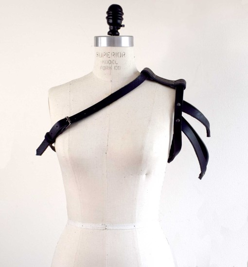 Asymmetrical Leather Shoulder Harness