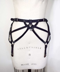 leather harness garter belt