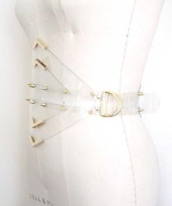 Clear PVC waspie belt