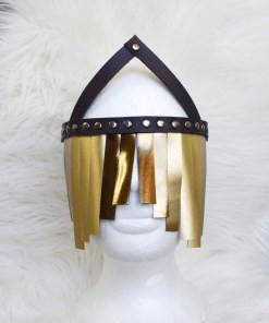 leather blindfold veil