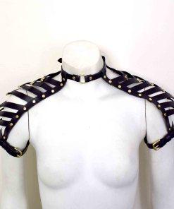 Black Leather Shoulder Harness