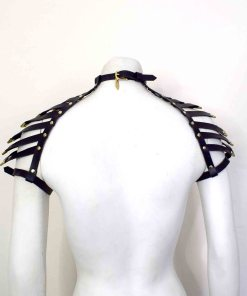 Black Leather Shoulder Harness
